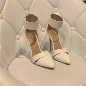 JustFab White Heels